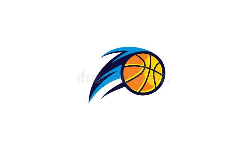 Vektor för symbol för basketlaglogoemblem vektor illustrationer