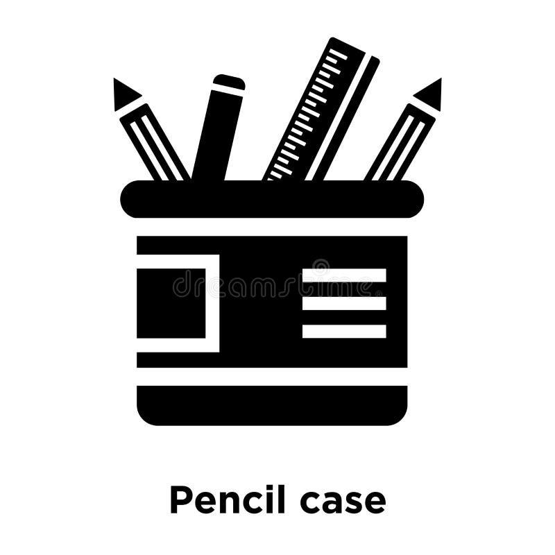 Vektor för symbol för blyertspennafall som isoleras på vit bakgrund, logoconce royaltyfri illustrationer