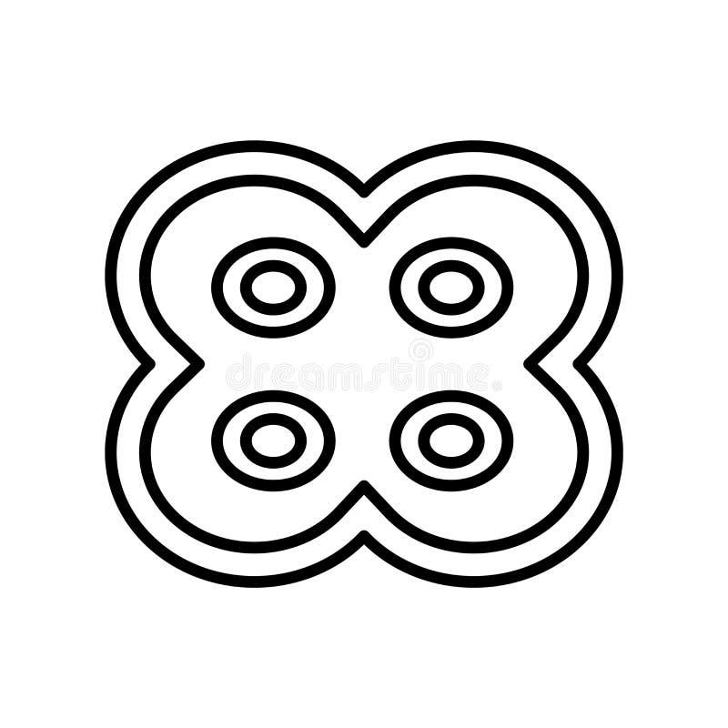Vektor för symbol för celluppdelning som isoleras på vit bakgrund, celluppdelningstecken, tunn linje designbeståndsdelar i översi stock illustrationer