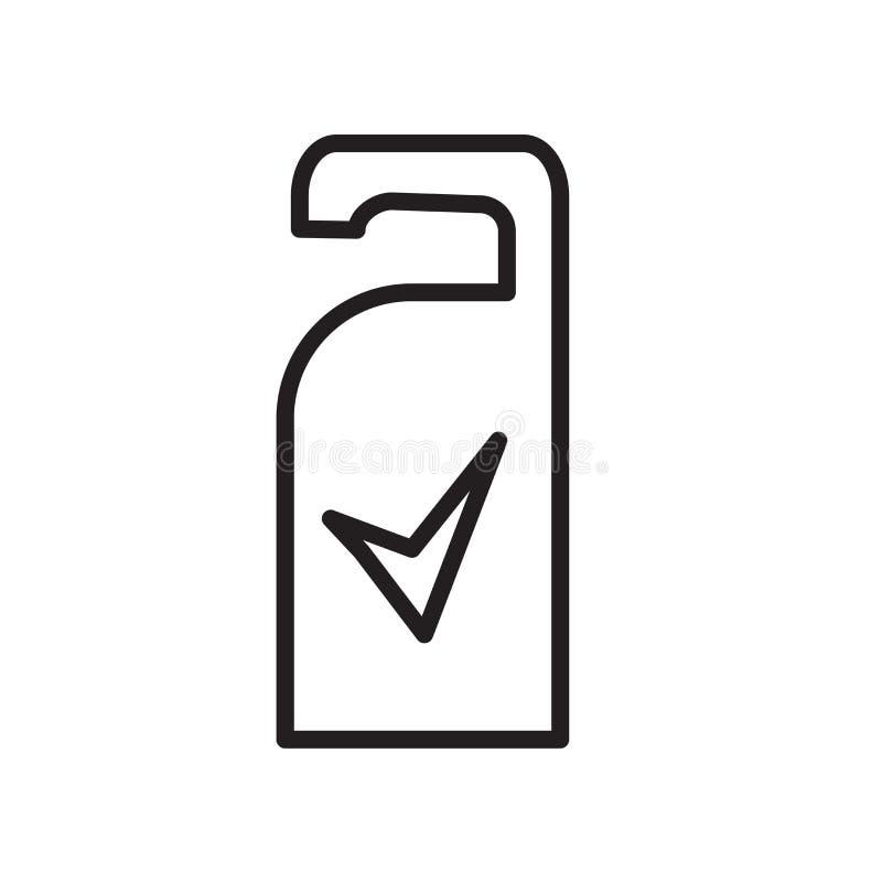 Vektor för symbol för dörrhängare som isoleras på det vita bakgrunds-, för dörrhängare tecknet, linjärt symbol och slaglängddesig vektor illustrationer