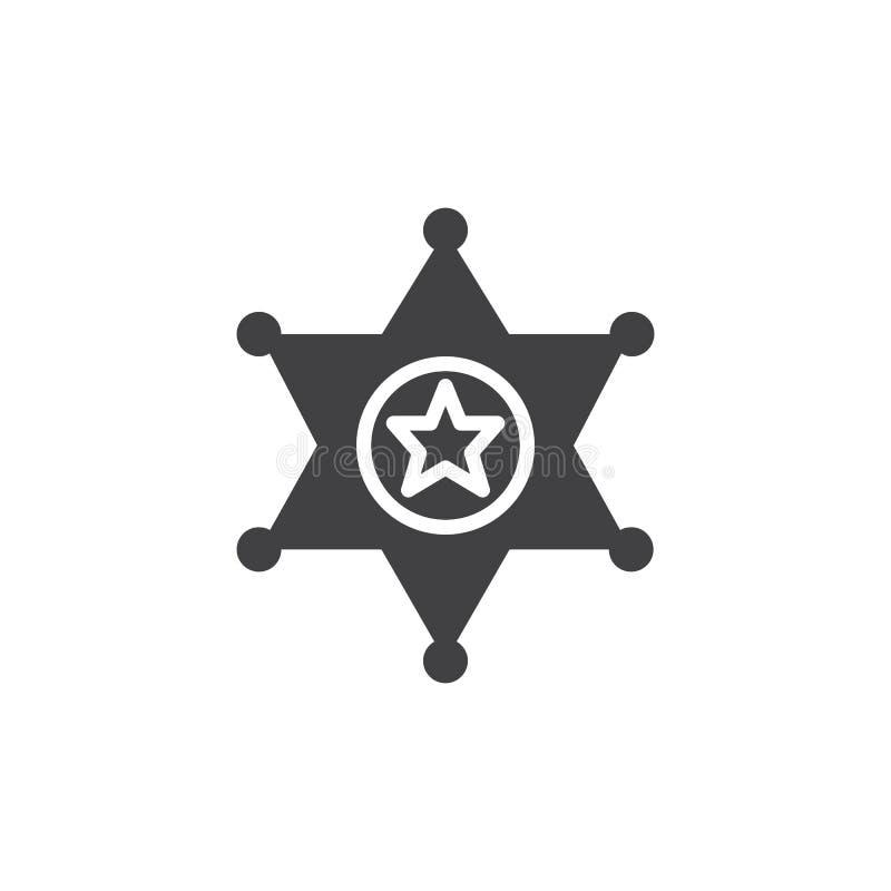 Vektor för symbol för emblem för sheriff` s stock illustrationer