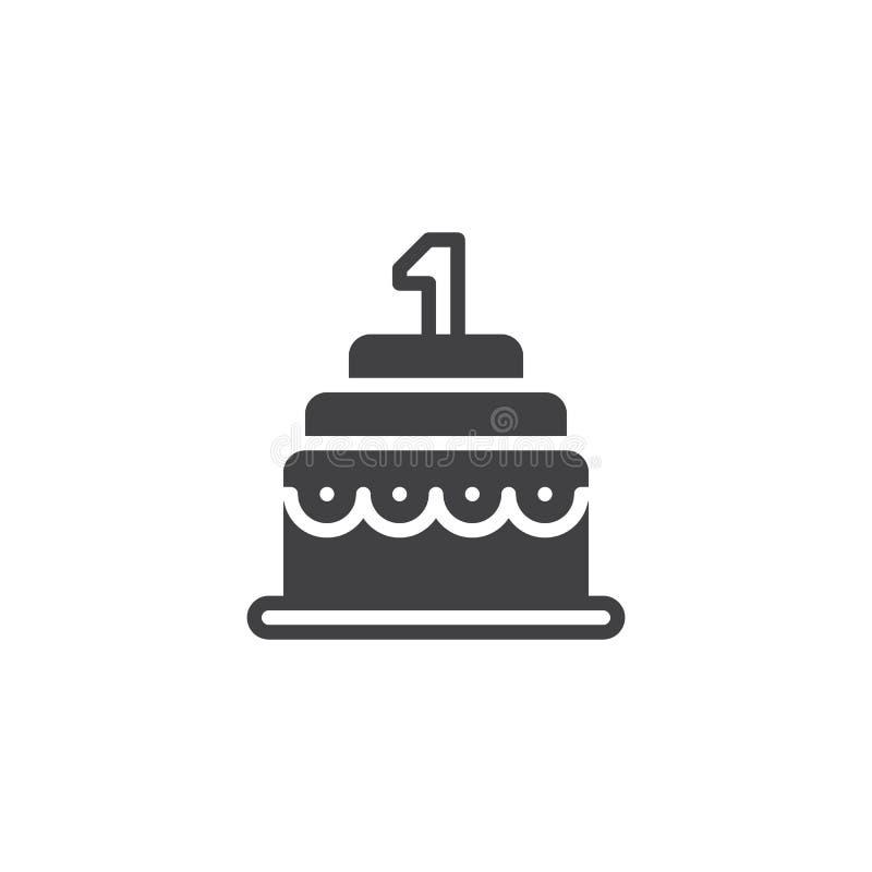 Vektor för symbol för födelsedagkaka vektor illustrationer