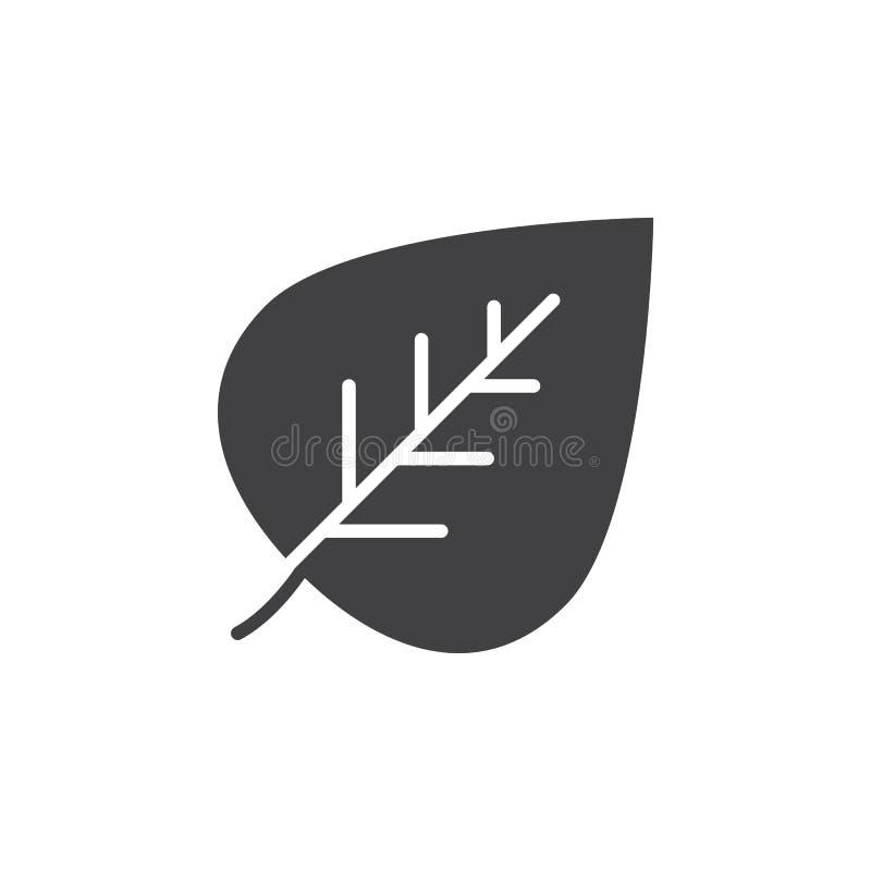 vektor för symbol för begreppsecoillustration Bladsymbolsvektor, fyllt plant tecken, fast pictogram som isoleras på vit royaltyfri illustrationer