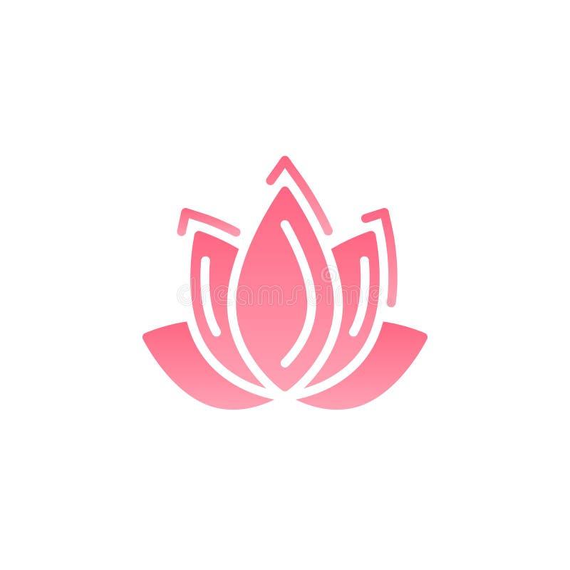 Vektor för symbol för Lotus blomma, fyllt plant tecken, fast färgrik pictogram som isoleras på vit royaltyfri illustrationer