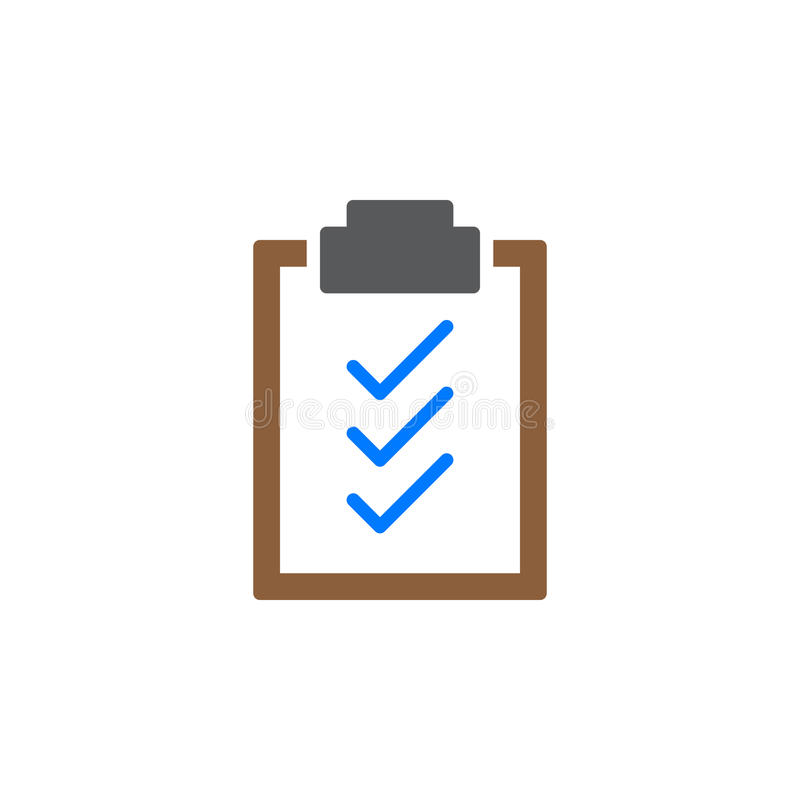 Vektor för symbol för skrivplattakontrollfläckar, fyllt plant tecken, fast färgrik pictogram som isoleras på vit stock illustrationer
