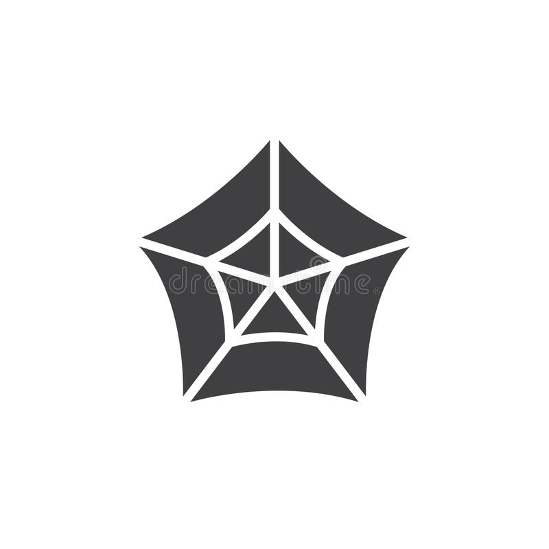 Vektor för symbol för spindelrengöringsduk, fyllt plant tecken, fast pictogram som isoleras på vit vektor illustrationer