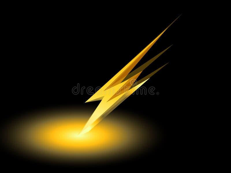 Vektor för symbol för symbol för elektrisk laddning för åska vektor illustrationer