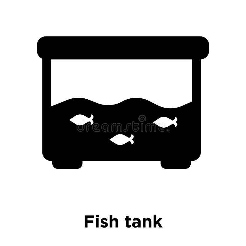 Vektor för symbol för fiskbehållare som isoleras på vit bakgrund, logobegrepp vektor illustrationer