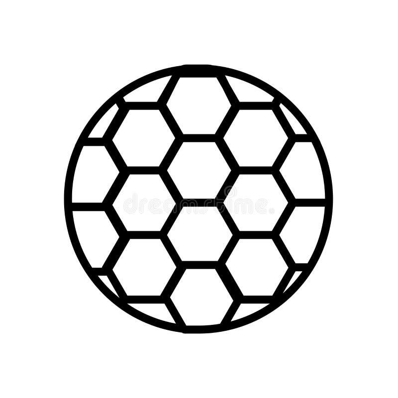 Vektor för symbol för fotbollfotbollboll som isoleras på vit bakgrund, tecken för fotbollfotbollboll, linjärt symbol och slagläng vektor illustrationer