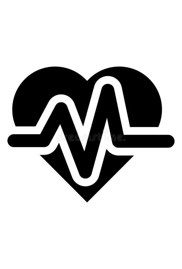 Vektor för symbol för hjärtatakt stock illustrationer