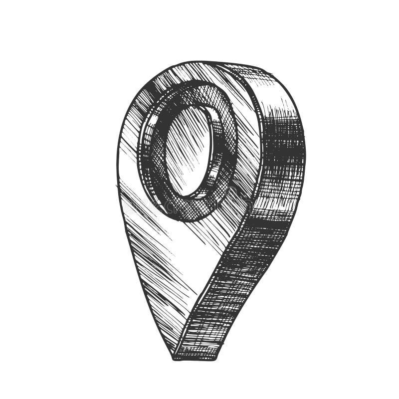 Vektor för symbol för läge för Gps för navigeringöversiktspekare stock illustrationer