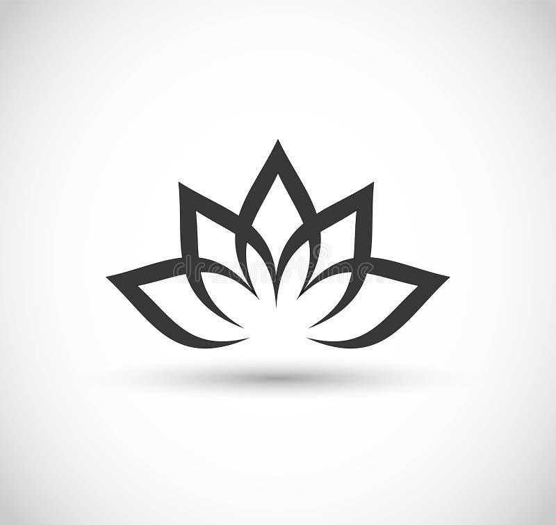 vektor för symbol för lotusblommablomma stock illustrationer
