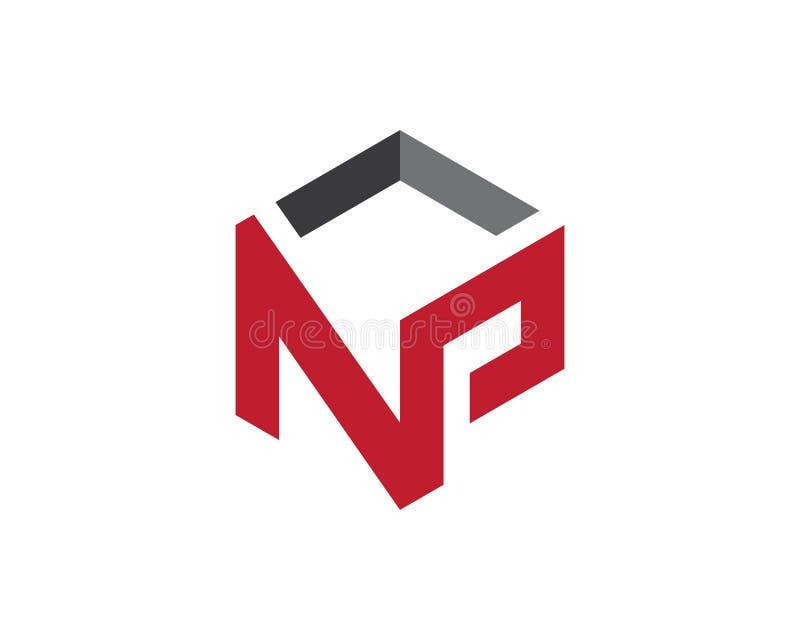 Vektor för symbol för n-bokstavslogo vektor illustrationer