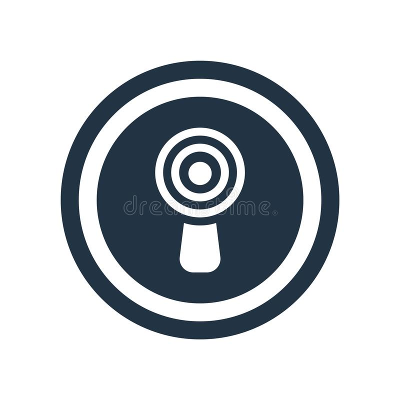 Vektor för symbol Non för joniseringsutstrålning som isoleras på vit bakgrund, royaltyfri illustrationer