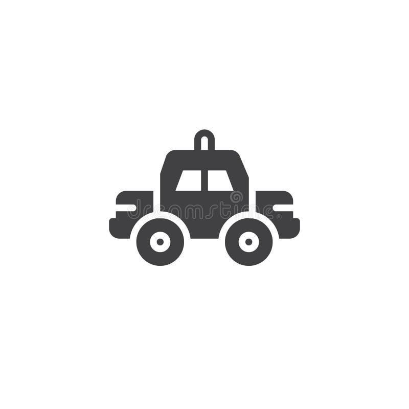 Vektor för symbol för polisbil vektor illustrationer
