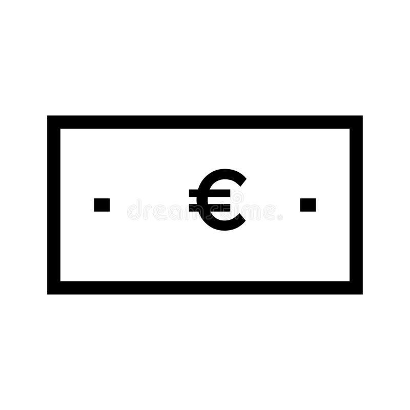 vektor för symbol för samlingseuro stor vektor illustrationer