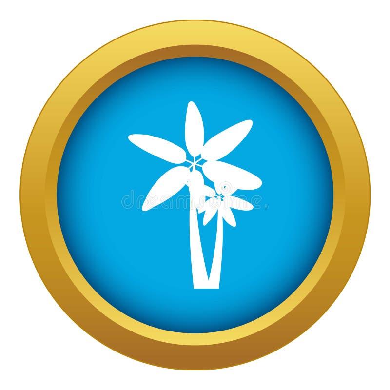 Vektor för symbol för två palmträd isolerad blå stock illustrationer