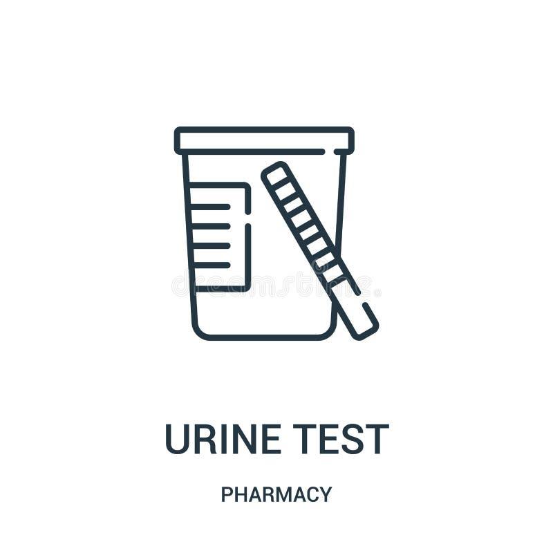 vektor för symbol för urinprov från apoteksamling Tunn linje illustration för vektor för symbol för översikt för urinprov vektor illustrationer