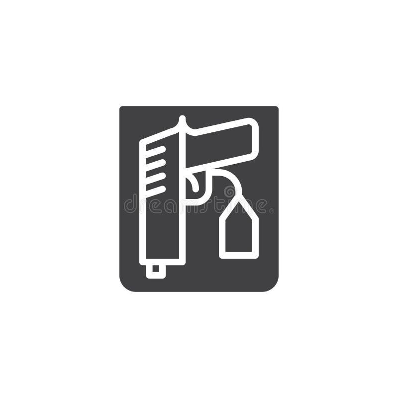 Vektor för symbol för vapenprovexemplartecken vektor illustrationer