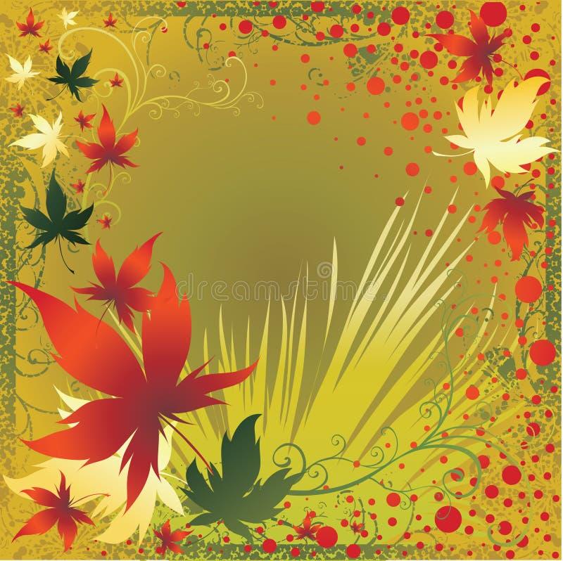 vektor för tacksägelse för höstramleafs royaltyfri illustrationer