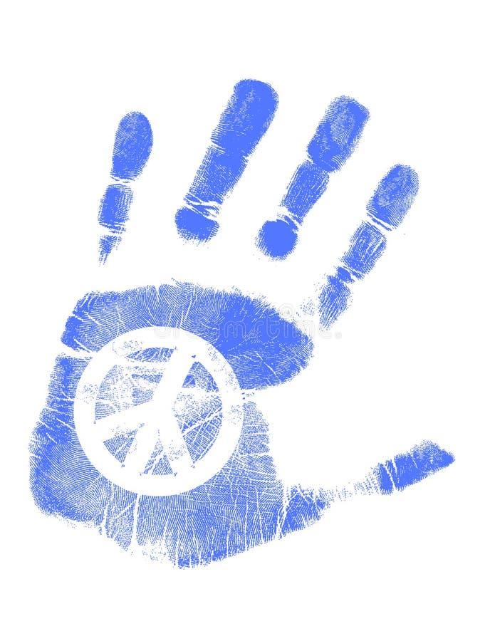 vektor för tecken för handfredtryck stock illustrationer