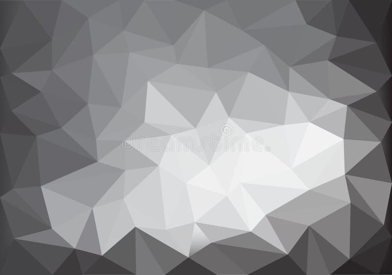 Vektor för textur för bakgrund för polygon för abstrakt grå färgsignalljus låg vektor illustrationer