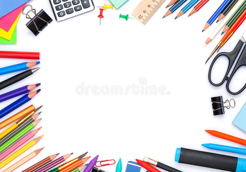 vektor för tillförsel för illustrationkontorsskola royaltyfri fotografi