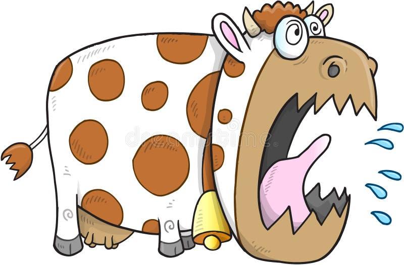 Vektor för tokig ko stock illustrationer