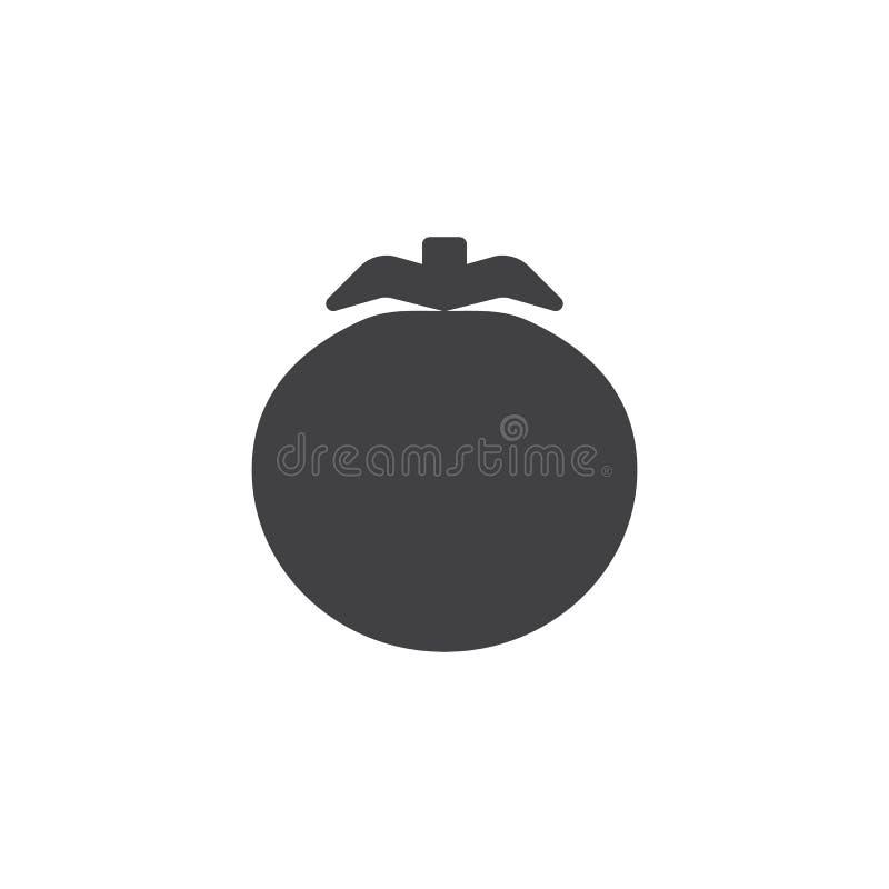 Vektor för tomatgrönsaksymbol stock illustrationer