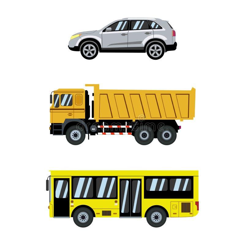 vektor för trans Stadsbilar och transport också vektor för coreldrawillustration royaltyfri illustrationer