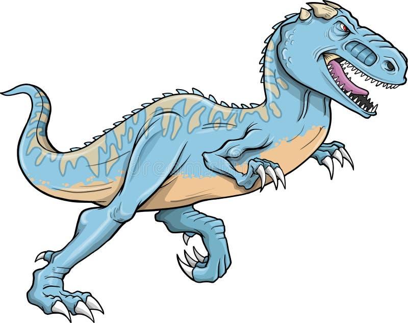 Vektor för TyrannosaurusRex Dinosaur vektor illustrationer