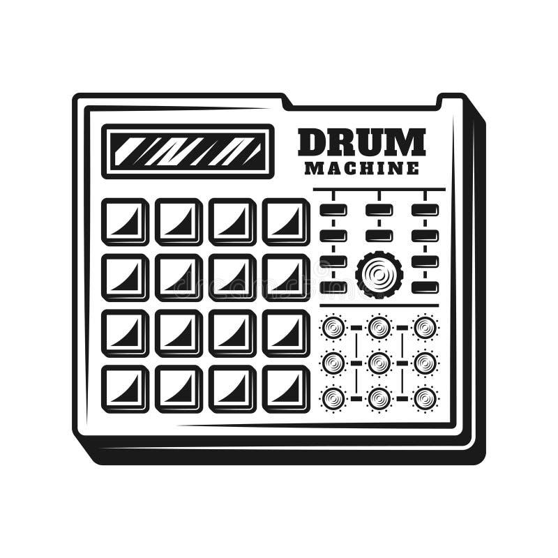 Vektor för utrustning för producent för valsmaskinmusik royaltyfri illustrationer