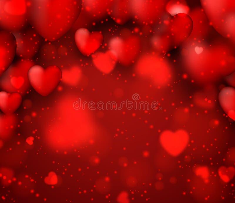 vektor för valentin för bakgrundsillustration röd s stock illustrationer