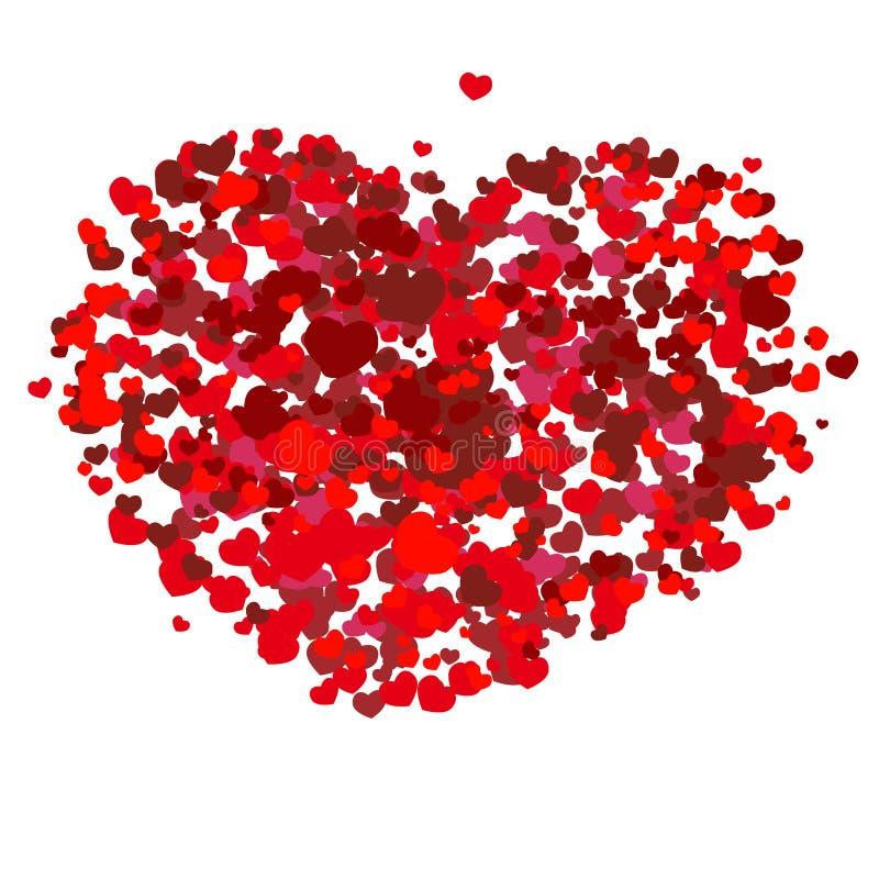 vektor för valentin för konsthjärta röd stock illustrationer