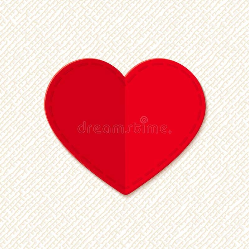 vektor för valentin för konsthjärta röd Vektor EPS-10 vektor illustrationer