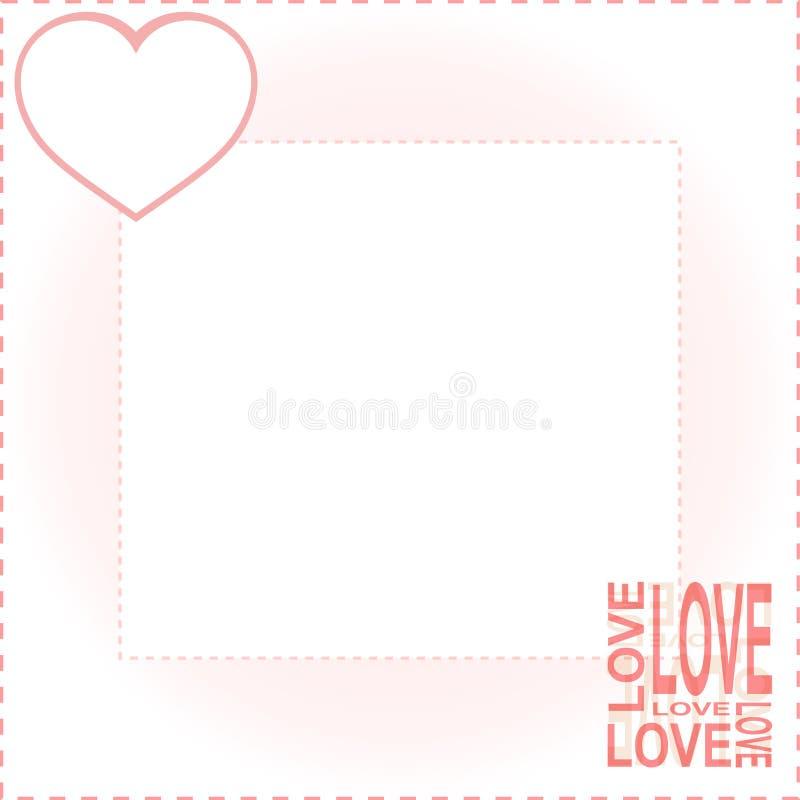 vektor för valentiner för bakgrundshjärtaförälskelse röd royaltyfri illustrationer