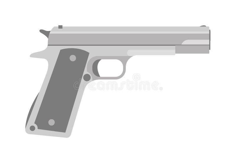 Vektor för vapen för pistol för lös västra handeldvapen för armé för vapenserietappning militär vektor illustrationer
