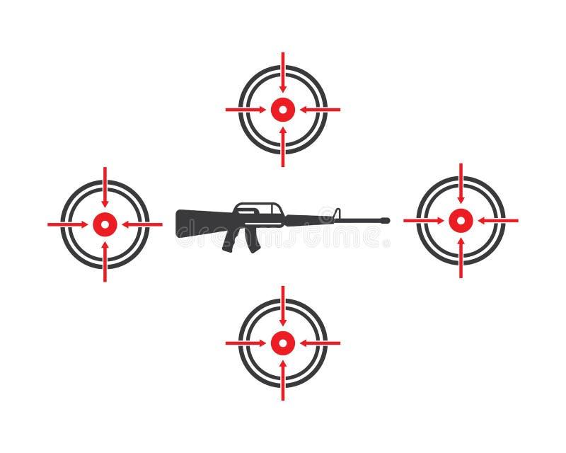 vektor för vapenmålsymbol vektor illustrationer