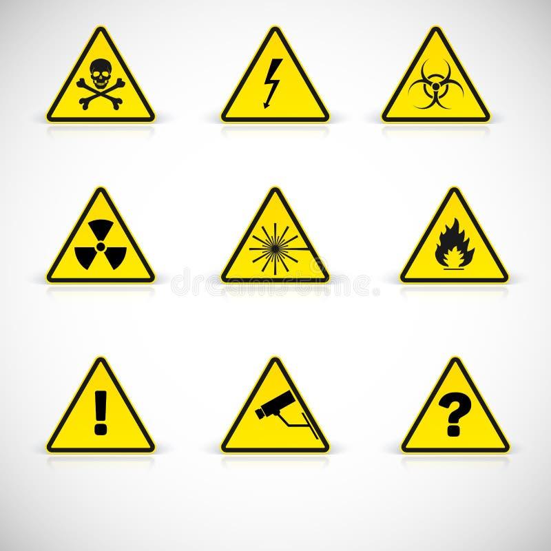 Vektor för varningstecken vektor illustrationer