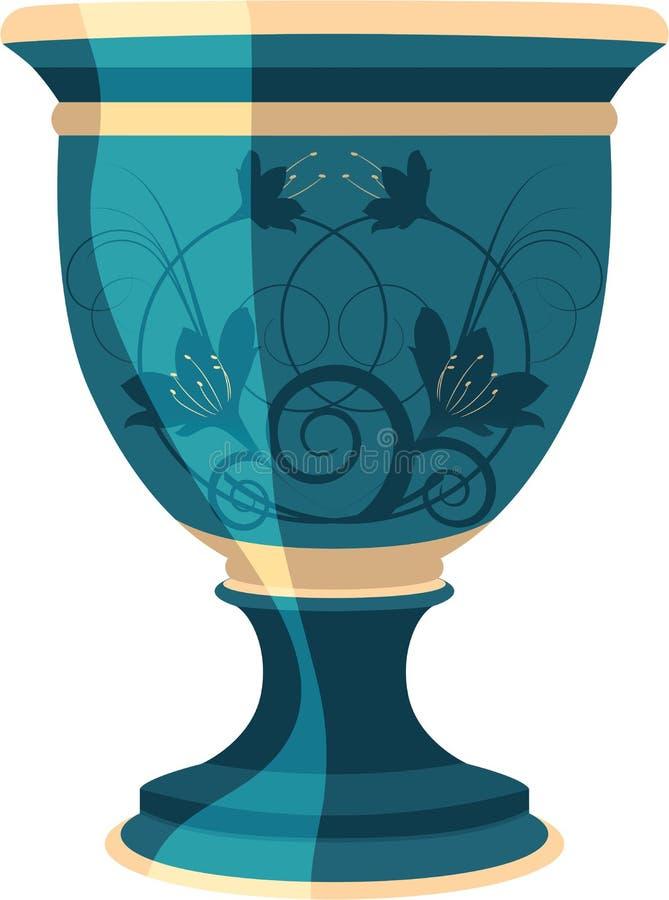vektor för vase för blommablomkrukaillustration vektor illustrationer
