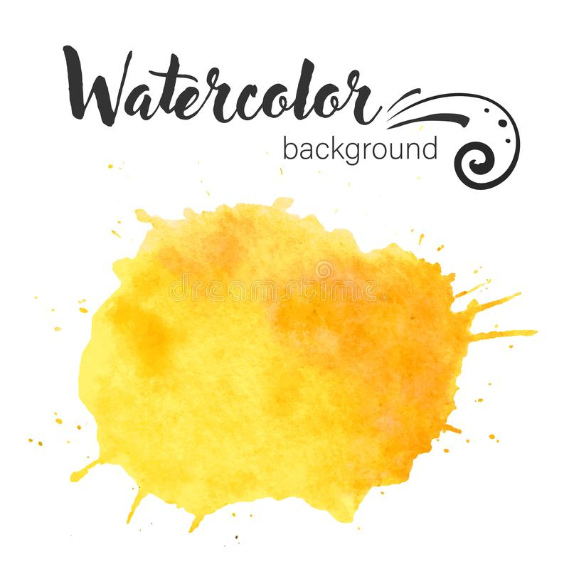 Vektor för vattenfärgmålarfärgklick Asken för text för vektorn för vattenfärgmålarfärgklick som isoleras för design, annonserar,  vektor illustrationer