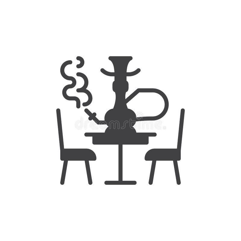 Vektor för vattenpipavardagsrumsymbol, fyllt plant tecken royaltyfri illustrationer