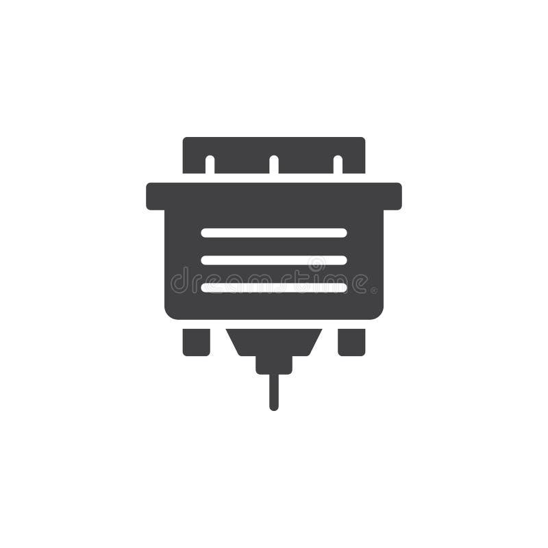 Vektor för Vga-kabelsymbol royaltyfri illustrationer