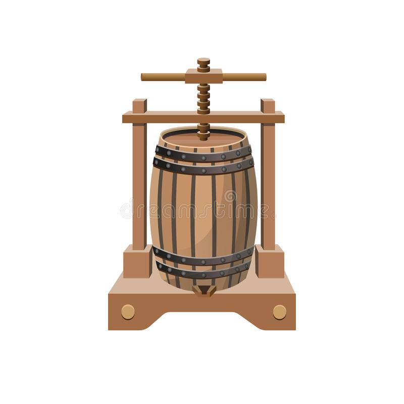 Vektor för vinpress vektor illustrationer