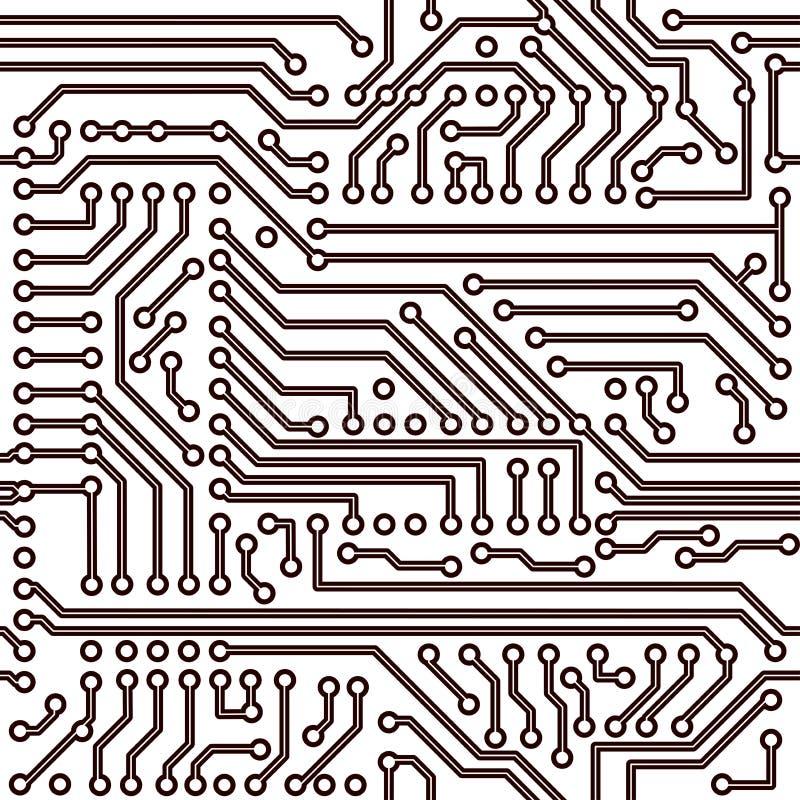 vektor för elektronisk modell för brädeströmkrets seamless vektor illustrationer