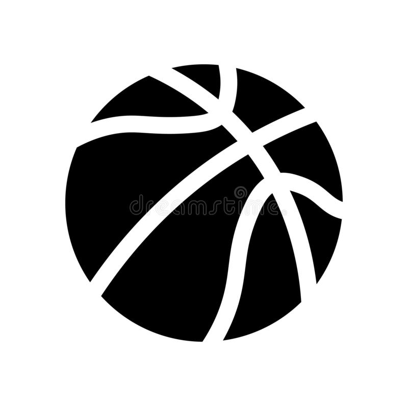 Vektor f?r basketbollsymbol royaltyfri illustrationer