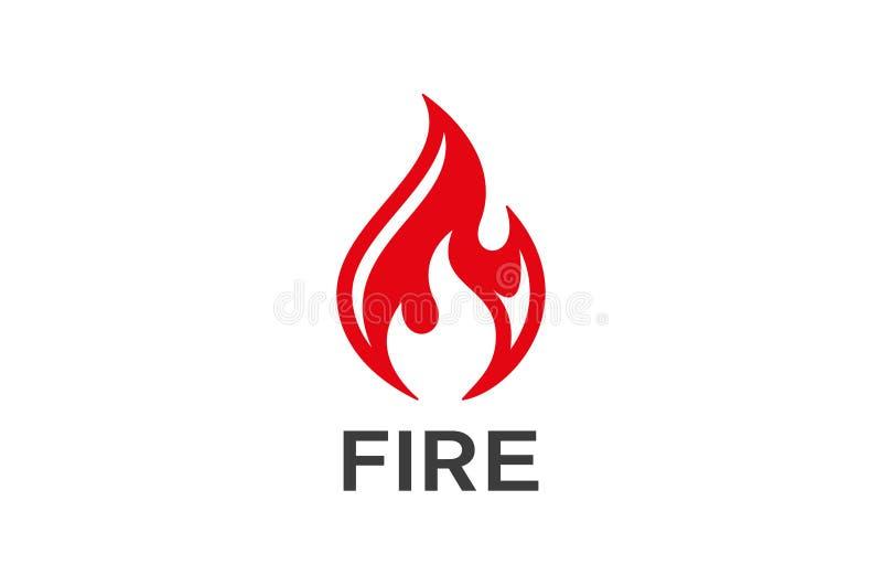 Vektor f?r design f?r brandflammalogo royaltyfri illustrationer