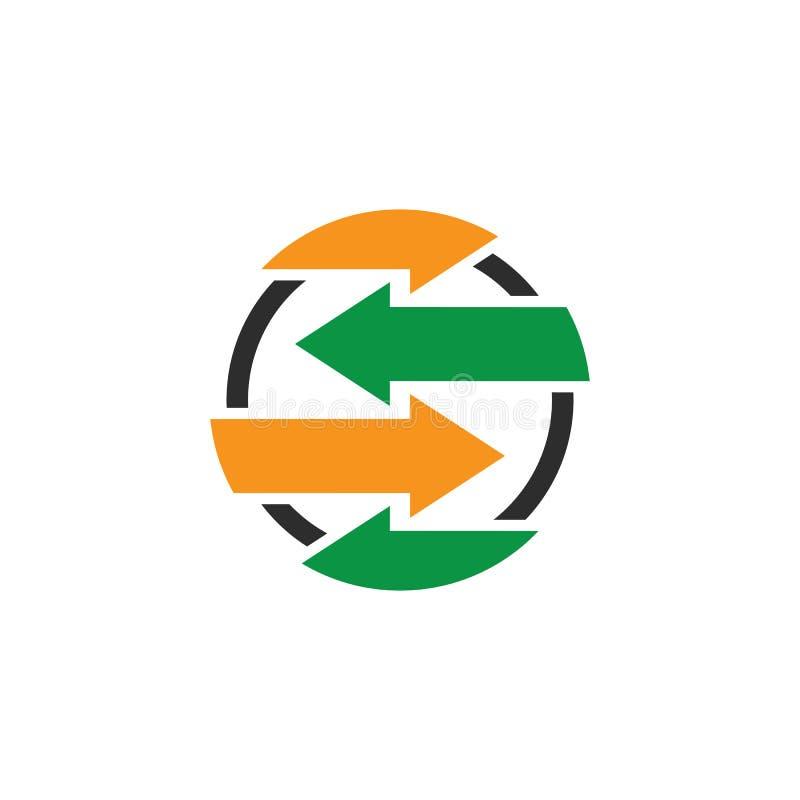 Vektor f?r design f?r logo f?r pil f?r aff?rscirkel royaltyfri illustrationer