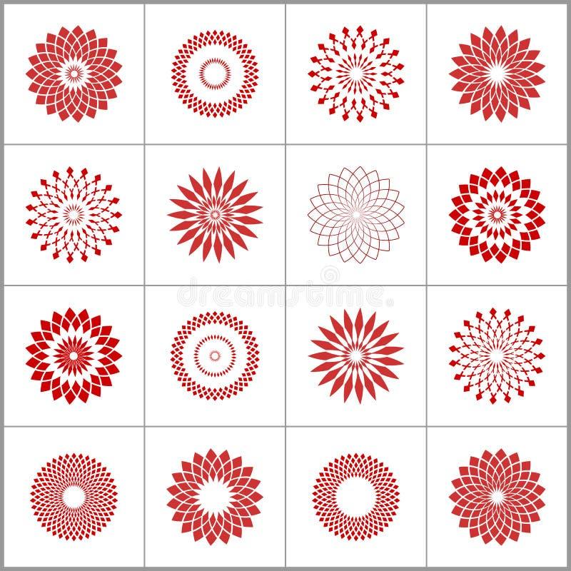 vektor f?r designelementset Geometriska modeller f?r abstrakt cirkel royaltyfri illustrationer