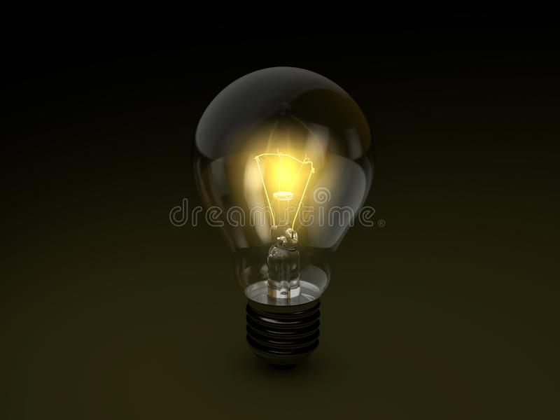 vektor f?r lampa f?r illustration f?r kulabegreppsid? vektor illustrationer